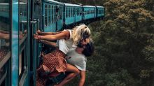 Instagram couple hit back after 'idiotic' kissing photo slammed online