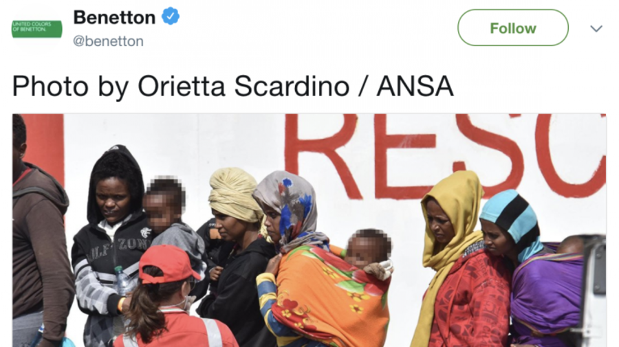 Benetton faces backlash for advertising campaign that uses photos of migrant rescue