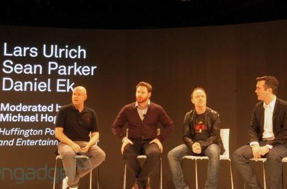Sean Parker and Lars Ulrich talk Napster vs. Metallica, hug it out with Spotify