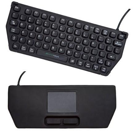 Econo-Keys EK-76-TP portable keyboard packs a touchpad on the flipside