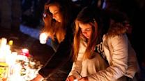 Visitors Offer Comfort to Grief-Stricken Newtown