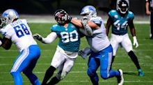 Detroit Lions' lineman not complaining after losing starting spot in return from injury