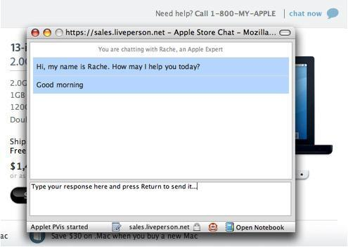 """Apple Store has a new """"chat now"""" feature"""