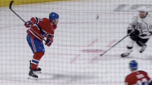 Canadiens' Shea Weber bats own rebound out of the air for incredible goal