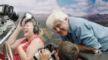 When the VR goggles came off, Jay Leno fans got a surprise visit from the man himself