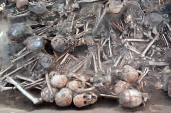 Archaeologists found nearly 100 bodies in a small house in northeast China. The house burned down at some point, leaving some of the bodies charred and deformed.