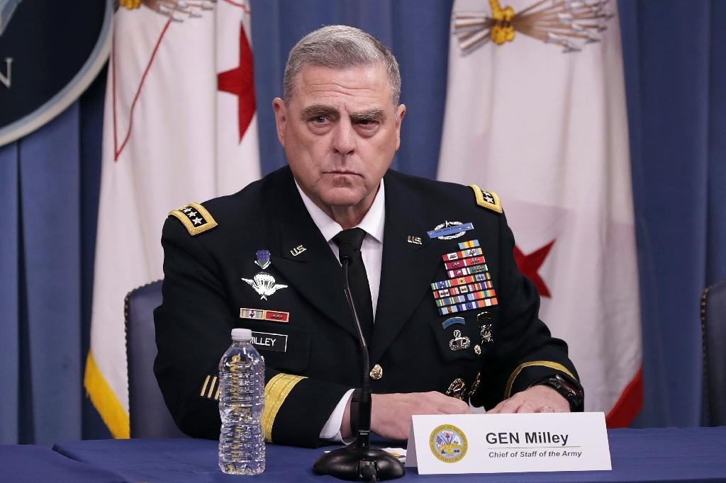US Army Chief of Staff General Mark Milley is President Donald Trump's choice to replace General Joseph Dunford as the chairman of the Joint Chiefs of Staff (AFP Photo/CHIP SOMODEVILLA)