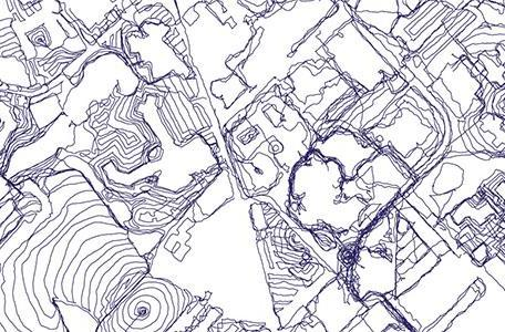 Artist uses GPS to map things the old-fashioned way: walking around