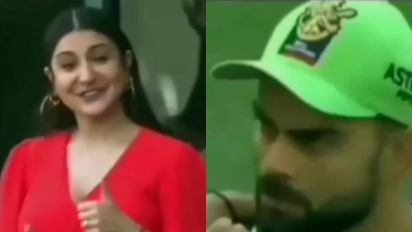 Virat Kohli Asks Pregnant Anushka Sharma from Ground If She's Eaten, See Their Cute Exchange