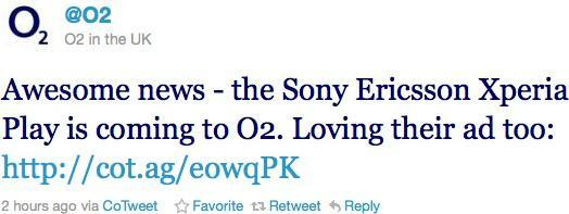 O2 UK says it's getting the Sony Ericsson Xperia Play (update: all UK carriers, April launch)
