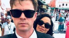 Chris Hemsworth marks end of filming on Men in Black