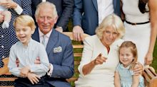 How Prince Charles Kept Prince George, Princess Charlotte, and Prince Louis Happy During that Sweet Portrait Session