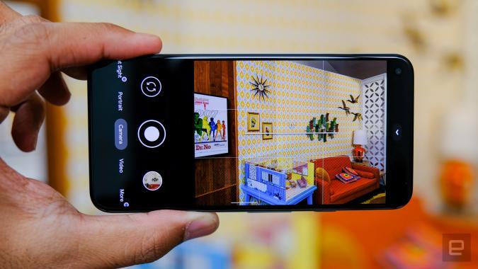 Google Pixel 5 camera app