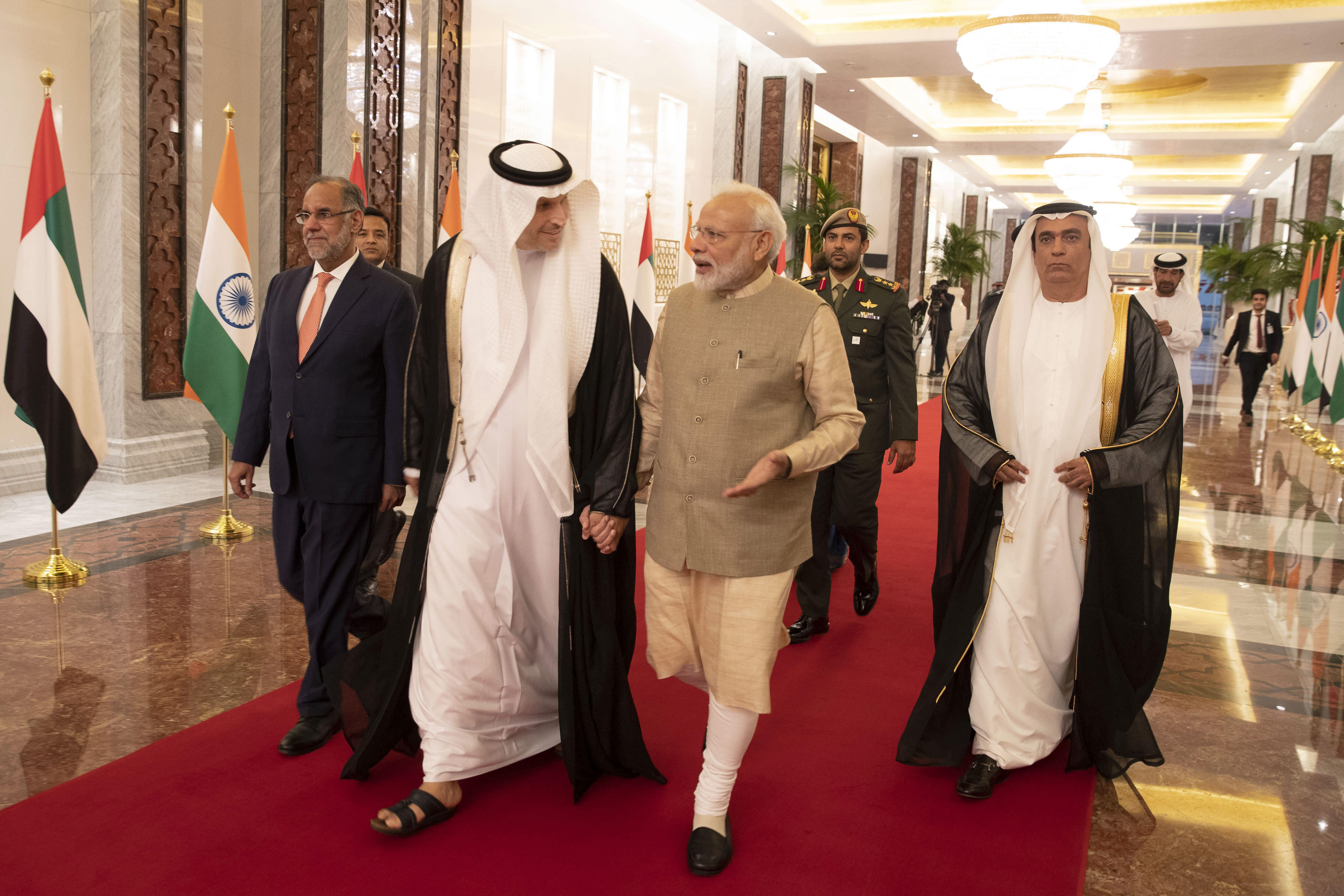Indian PM Modi meets US President Donald Trump at G7