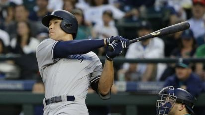 Aaron Judge hit a mammoth homer that almost left Safeco Field