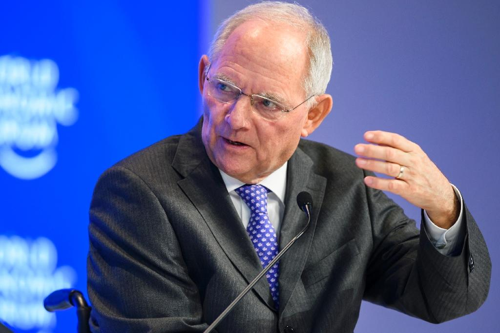 Wolfgang Schaeuble has reaffirmed his staunch opposition to slashing Greece's debt (AFP Photo/FABRICE COFFRINI)