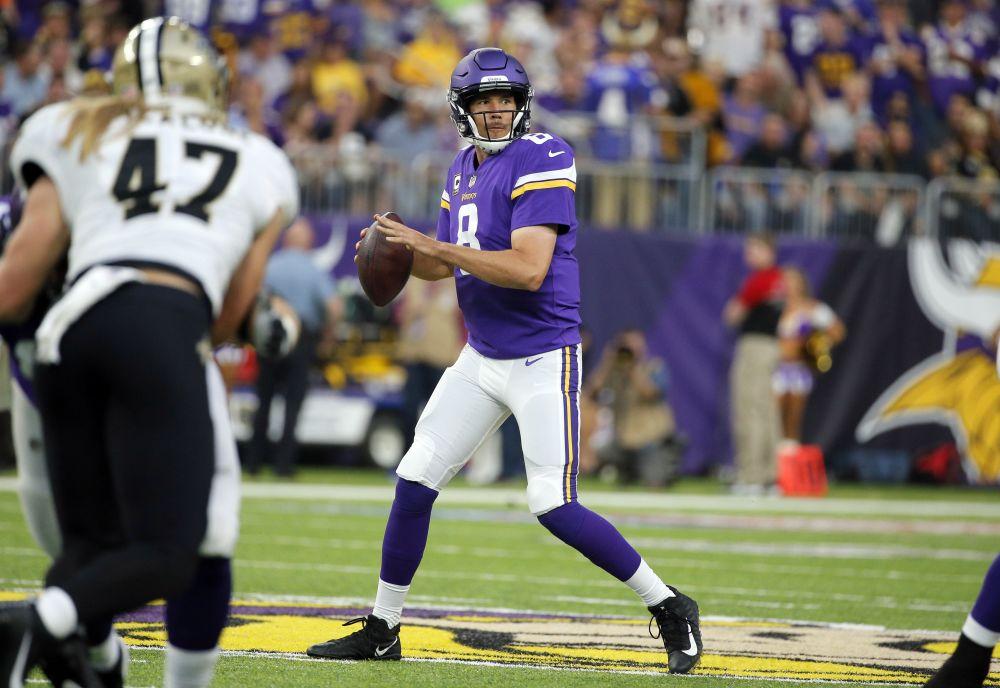 Sam Bradford experienced swelling in his knee this week. (AP)