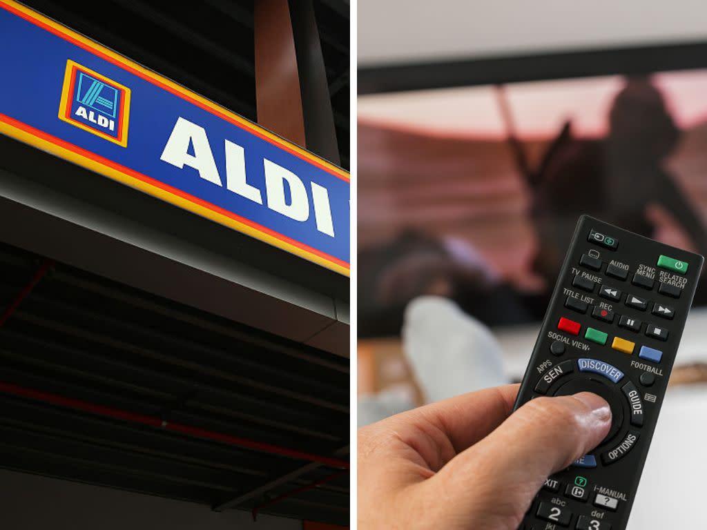"WEEKEND BARGAIN: Aldi unveils a huge 50"" 4K ultra HD flatscreen TV for just $399"