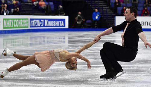 Eiskunstlauf: Savchenko/Massot auf Medaillenkurs