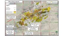 Bonterra Intersects 5.6 g/t Au over 4 metres in the Western Extension of the Barry Deposit