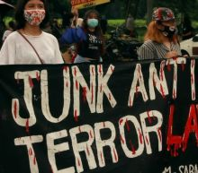 Anti-Duterte protesters rally against newly-signed anti-terrorism bill in Philippines