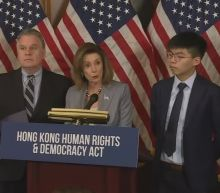 """""""We stand as one"""": Hong Kong activist with Pelosi"""
