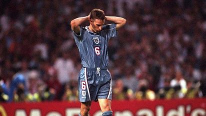Gareth Southgate begins his England era by showing players infamous penalty miss against Germany