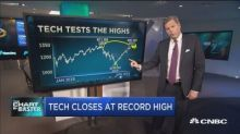 Top technician says hot tech rally about to cool off but there's still one name to buy