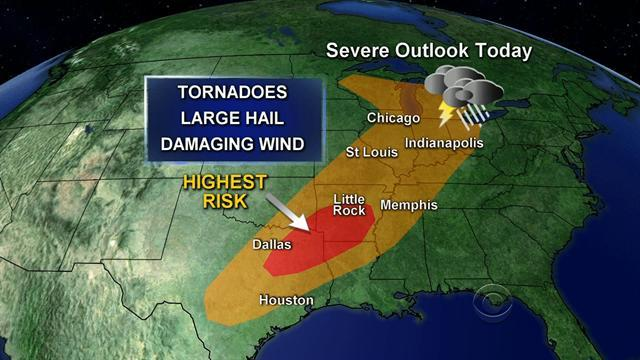 More severe weather expected from Texas to Mich.