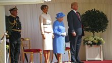 Melania Trump suits up to meet Queen Elizabeth for first time