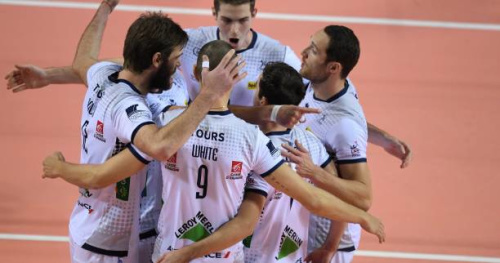 Volley - Coupe CEV (H) - Tours remporte la demi-finale aller contre United Volleys RheinMain