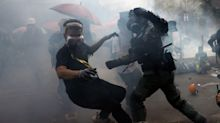 Hong Kong Police Fire Tear Gas And Rubber Bullets At 'Trapped' Protesters
