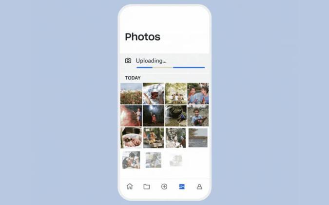 Dropbox photo uploads
