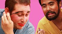 Some Guys Tried On Makeup And Were Hilariously Confused While Doing It