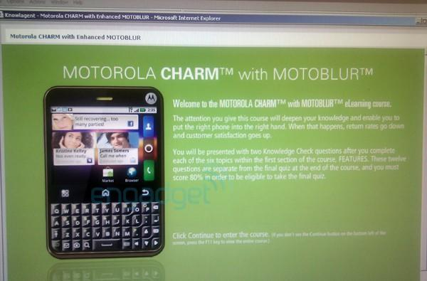 Motorola Charm coming to T-Mobile with 'enhanced' Android 2.1 Motoblur? Update promised for CLIQ and CLIQ XT?