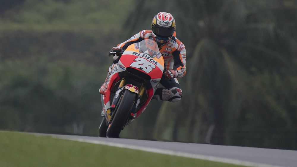 Pedrosa snatches pole as Marquez crashes in Sepang