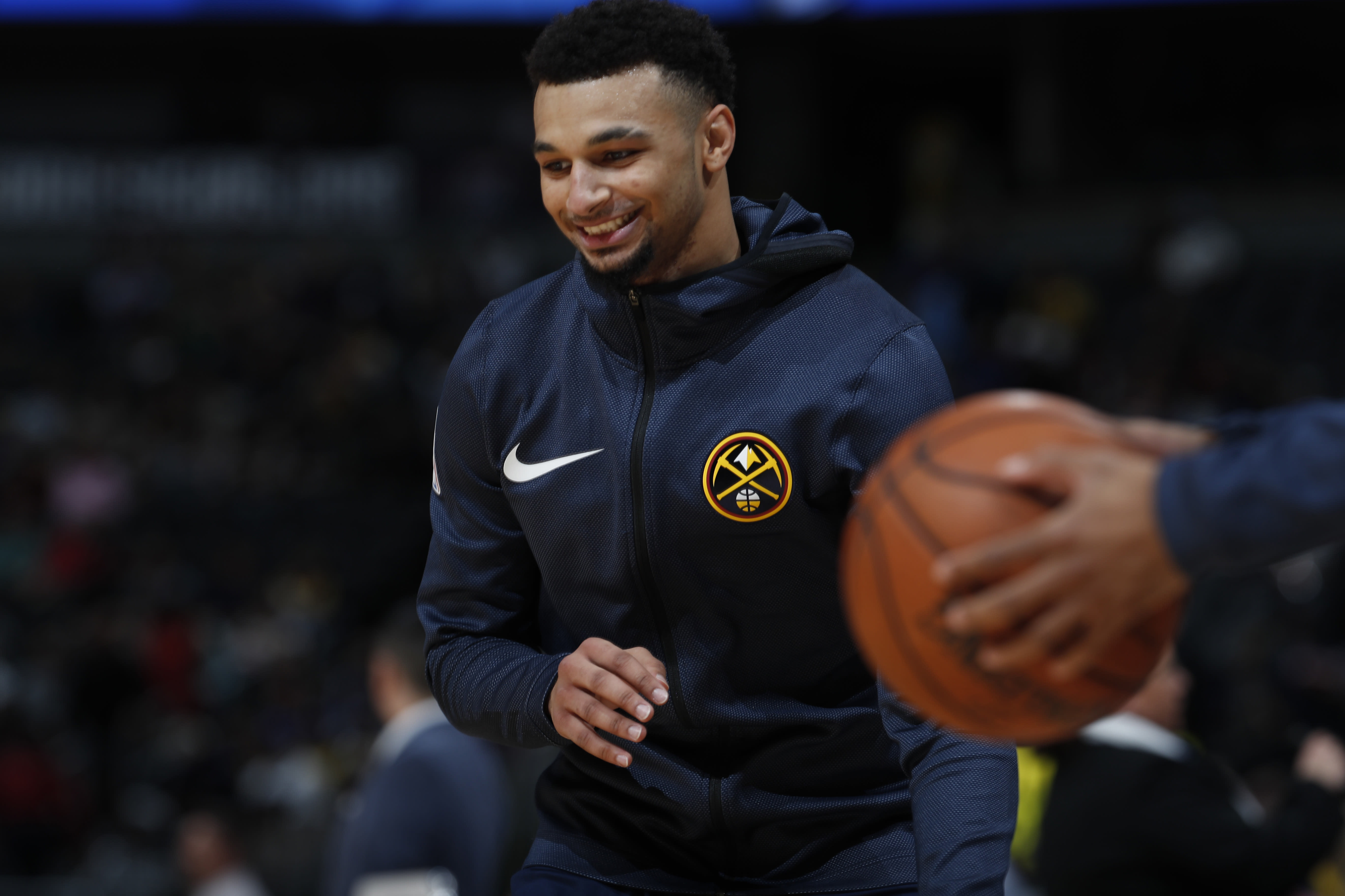 0cd70557f Jamal Murray hits half-court shots with ease in warmups