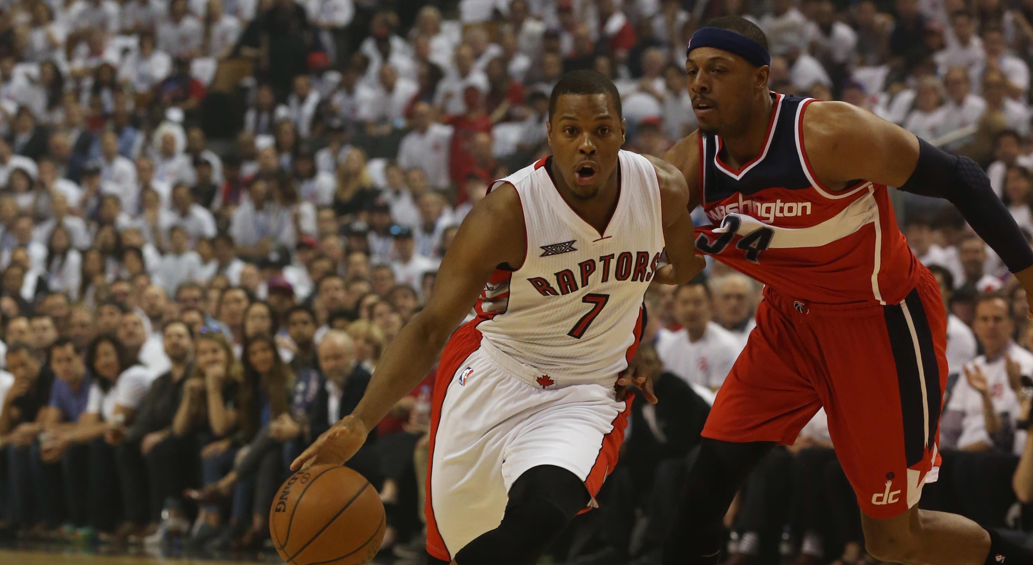 b64405e01fe33 Paul Pierce fires a dart at Raptors  Kyle Lowry on ESPN s  The Jump