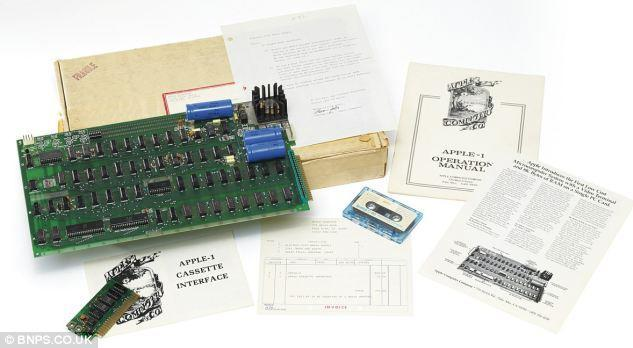 Apple-1 computer on the auction block at Christie's with a starting price of $241,000
