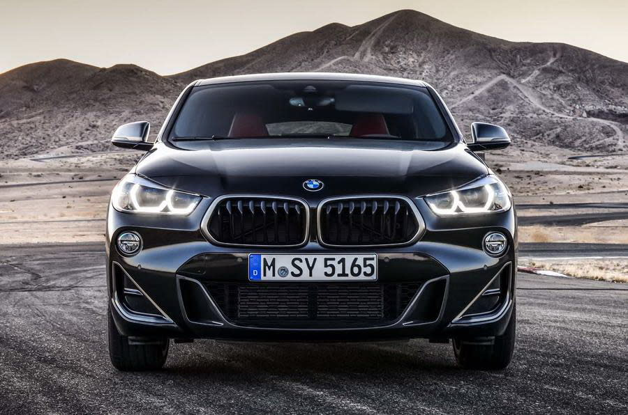 BMW X2 M35i為M Performance車系首度採用2.0升四缸的車款(圖片來源:https://www.autocar.co.uk/car-news/new-cars/new-bmw-x2-m35i-revealed-first-four-pot-m-cars)