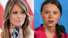 Melania Trump Downplays Husband's Greta Thunberg Diss: Barron 'Is Not an Activist Who Travels the Globe'