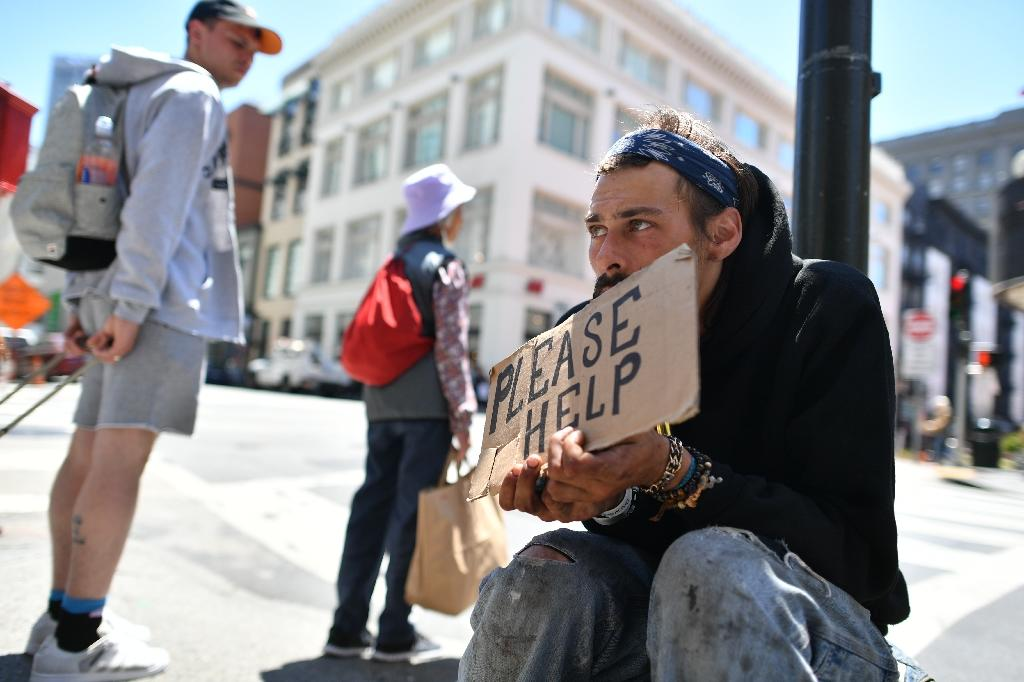 San Francisco's homeless problem has been exacerbated by the tech boom that pushed housing prices sky high (AFP Photo/Josh Edelson)