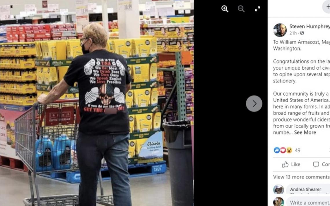 Washington mayor seen in profane shirt at Costco reacts to criticism: 'I had no idea'