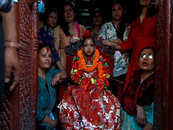 Nepal's living deities tour around city with arrival of festive season