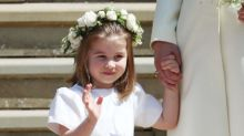 Adorable moment Princess Charlotte waves goodbye to Prince Charles and Camilla