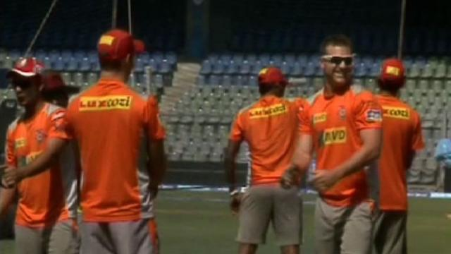 Kings XI Punjab in practice session