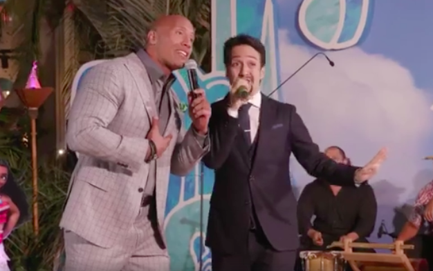 Dwayne Johnson and Lin-Manuel Miranda Duet at 'Moana' World Premiere