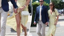 Pippa Middleton narrowly avoids wardrobe malfunction