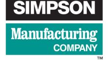 Simpson Manufacturing Co., Inc. Announces Participation At R.W. Baird's 2018 Global Industrial Conference