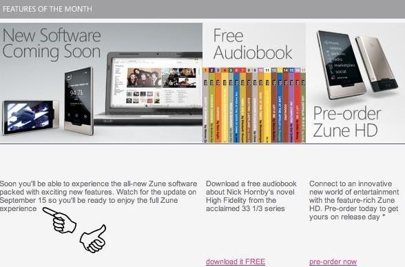 Zune software update coming September 15th alongside Zune HD launch